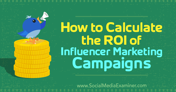 How to calculate your influencer marketing ROI?